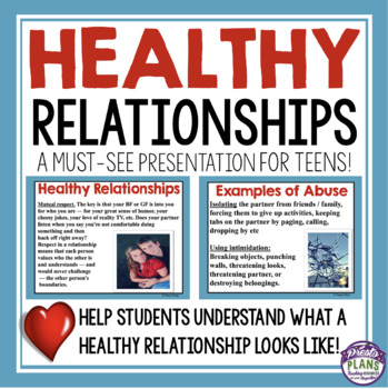 TEEN RELATIONSHIPS PRESENTATION & ACTIVITY