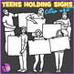 Teens holding signs clip art