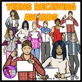 Teens Receiving Awards Clip Art - ♛ PREMIER ILLUSTRATIONS ♛ clipart