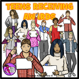 Teens Receiving Awards Clip Art - ♛ PREMIER ILLUSTRATIONS ♛ clipart