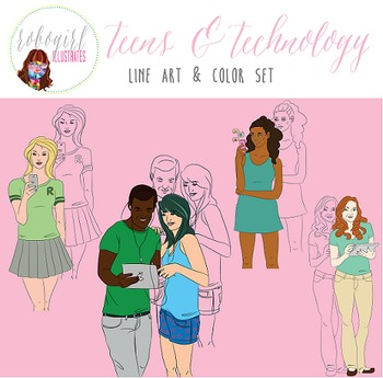 Teens & Tech Illustrations
