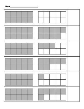 Teens & Ten Frames (Game, Worksheets, Flashcards)