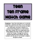 Teens Ten Frames Match Game