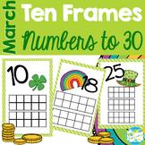 March Ten Frames - Teens & Twenties