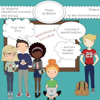 Teens at School – Secondary Teen Clipart