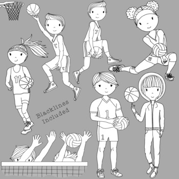 Teens at School Sports Edition 1 - Volleyball and Basketball