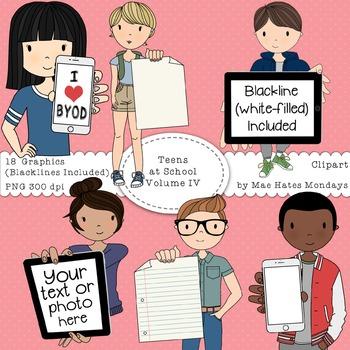 Teens at School Volume 4 - Secondary Teen Clipart