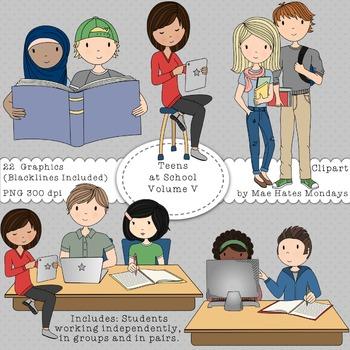 Teens at School Volume 5 - Secondary Teen Clipart