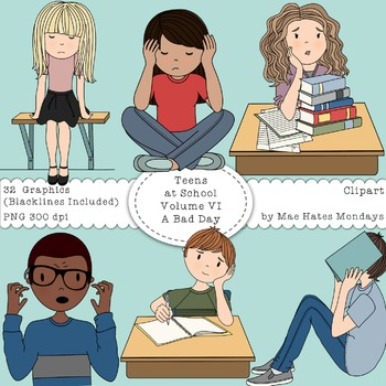 Teens at School Volume 6 - Secondary Teen Clipart