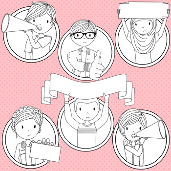 Teens at School Volume 7 - Secondary Teenager Clipart
