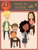 Teens at School clipart