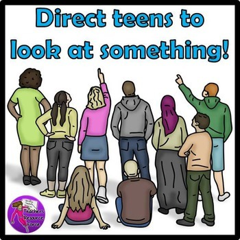 Teens from behind clip art