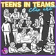 Teens in groups and pairs clip art