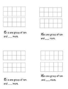 Teens in Ten Frames Book