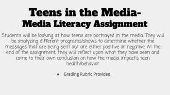 Teens in the Media- Media Literacy
