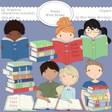 Teens with Books / Teens Reading - Secondary Teen Clipart