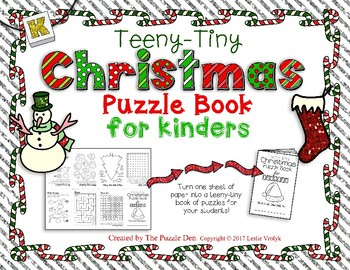 Teeny-Tiny Christmas Puzzle Book for Kinders