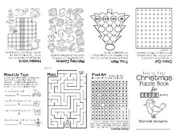 Teeny-Tiny Christmas Puzzle Book for Sixth Graders