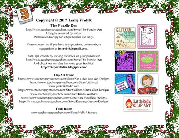 Teeny-Tiny Christmas Puzzle Book for Third Graders