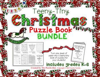Teeny-Tiny Christmas Puzzle Book BUNDLE