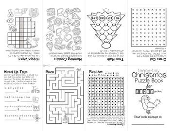 Teeny-Tiny Christmas Puzzle Books BUNDLE
