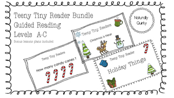 Teeny Tiny Readers Christmas BUNDLE levels A-C