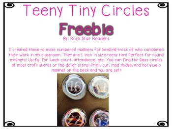 Teeny Tiny Circles [FREEBIE]-Perfect for creating your own number magnets!