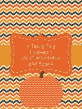 Teeny Tiny Halloween Activities