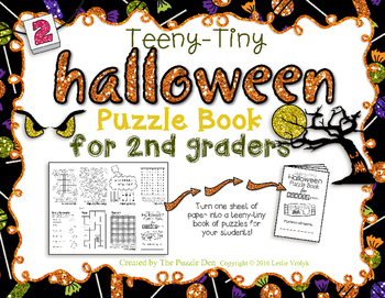 Teeny-Tiny Halloween Puzzle Book Second Graders