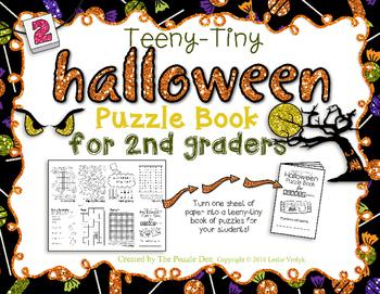 Teeny-Tiny Halloween Puzzle Book Second Graders