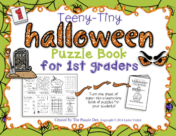 Teeny-Tiny Halloween Puzzle Book for First Graders