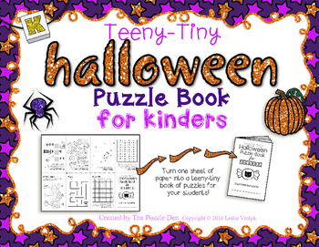 Teeny-Tiny Halloween Puzzle Book for Kinders