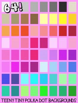 Teeny Tiny Polka Dot Backgrounds
