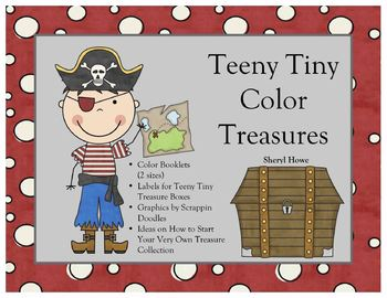 Teeny Tiny Treasures -- Color Booklet (Pirates)
