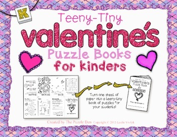 Teeny-Tiny Valentine's Puzzle Book for Kinders