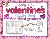 Teeny-Tiny Valentine's Puzzle Book for Third Graders