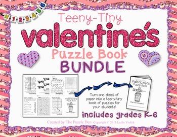 Teeny-Tiny Valentine's Puzzle Books - BUNDLE