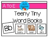 Teeny Tiny Word Books - Letters A To E