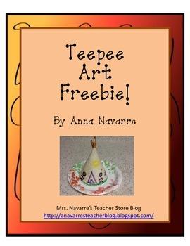 Teepee Art Freebie