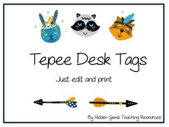 Teepee Desk Tags