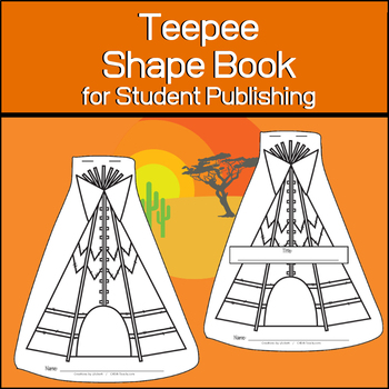 Teepee Shape Book | Student Publishing Materials