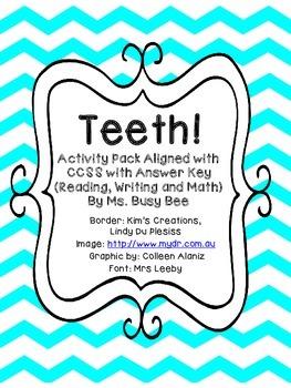 Teeth Activity Pack