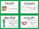 Teeth Color, Cut, And Glue Dictionary
