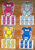Teeth Color Sorting Mats (For Dental Health Month)
