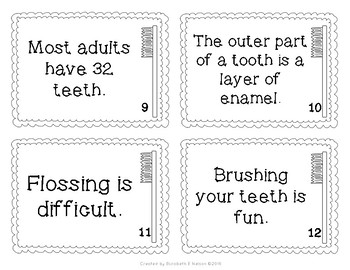 Teeth Fact and Opinion Scoot