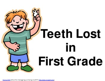 Teeth Lost in First Grade Graph