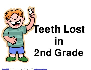 Teeth Lost in Second Grade Graph