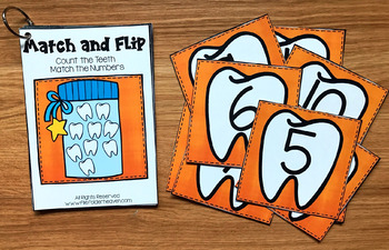 Teeth Match and Flip Books (For Dental Health Month)