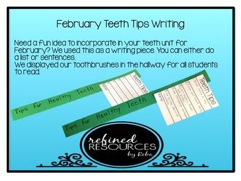 Teeth Tips Toothbrush Writing Activity