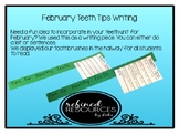 Teeth Tips Toothbrush Writing Activity